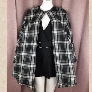 🎄 Gorgeous checkered cape - poncho ❤ unique size